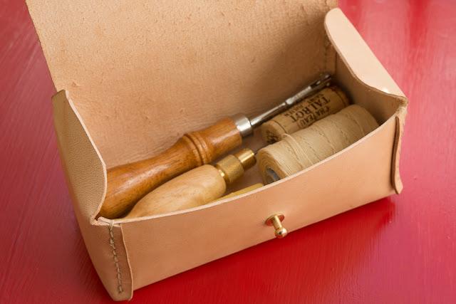 verktygslåda i läder