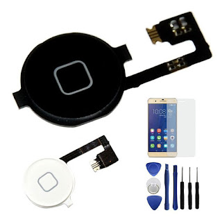 New Home Menu Button Flex Cable Key Cap Assembly + Free Tools For iPhone 4 4G 4S