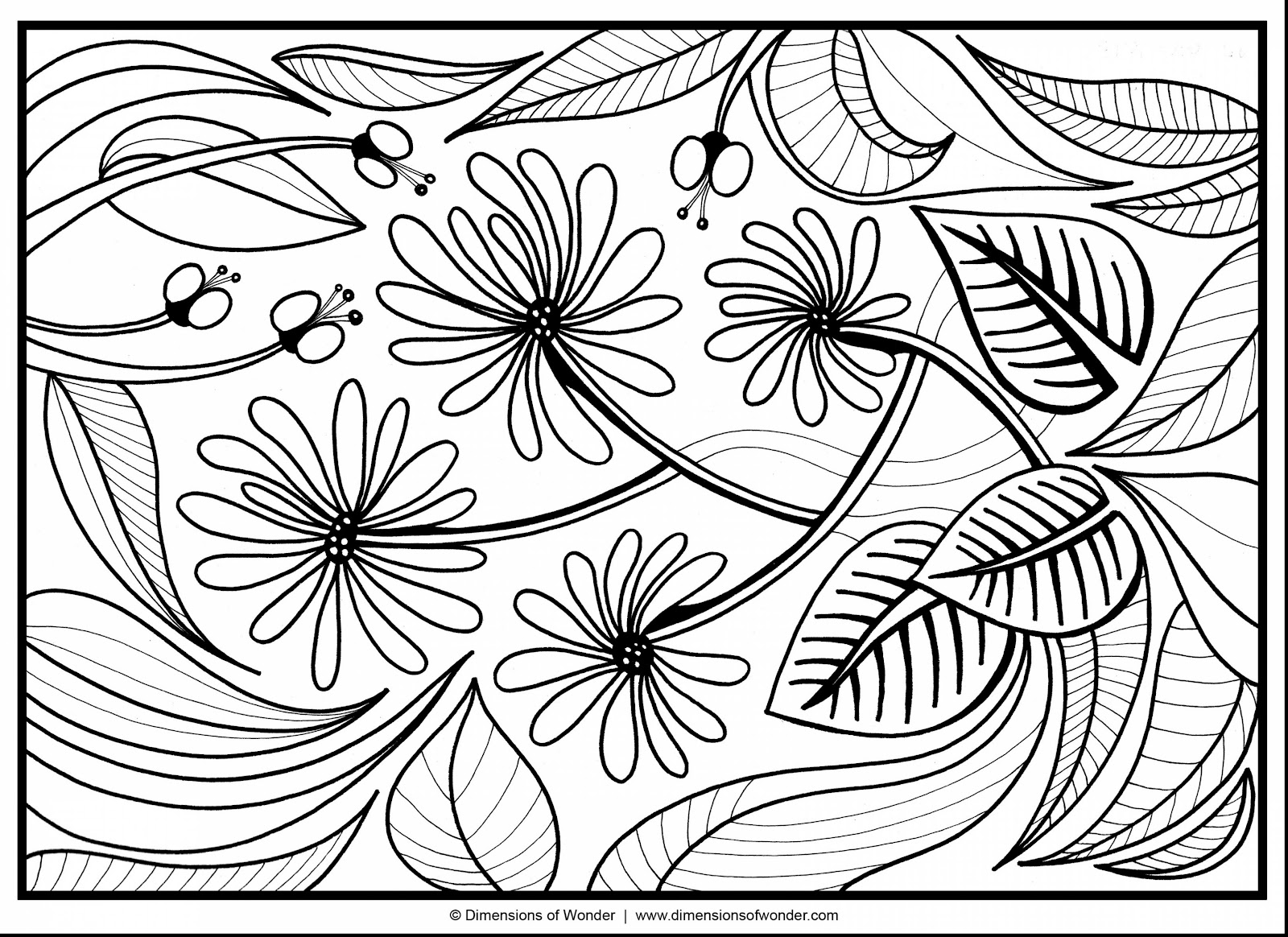 Best Free Abstract Flower Coloring