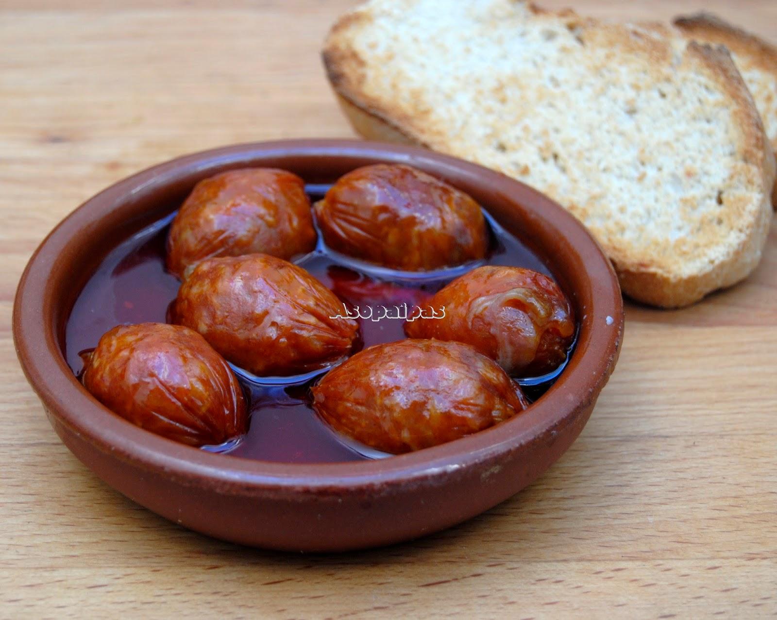 Chorizos a la Sidra receta Asturiana