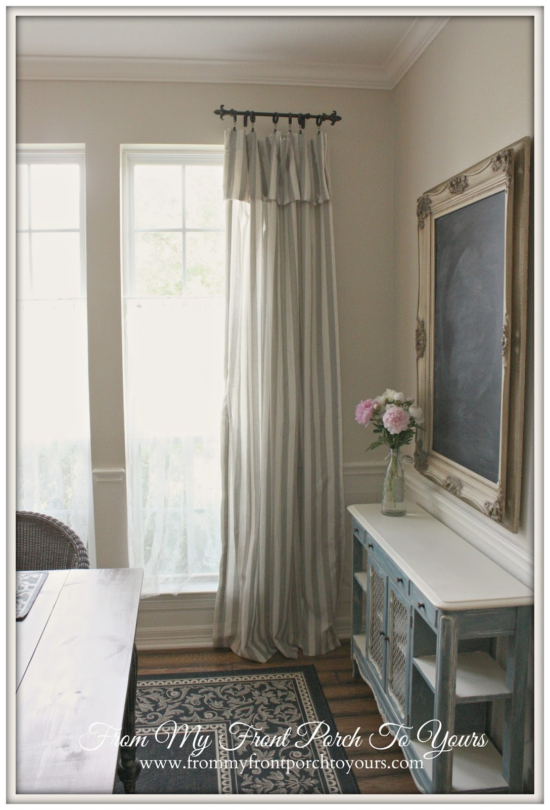 From My Front Porch To Yours- New Dining Room Curtains