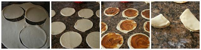 formar flores de pan
