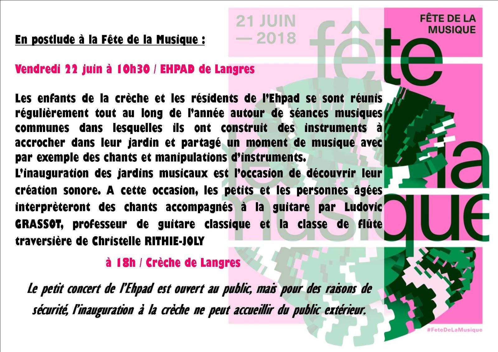 Ecole Municipale De Musique De Langres: Concerts/Actualité