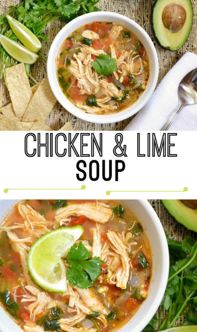 CHICKEN AND LIME SOUP #dinner #soup