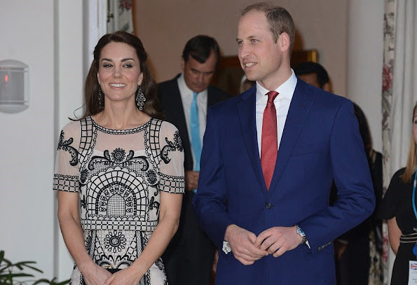 Prince William, Duke of Cambridge and Catherine, Duchess of Cambridge attend a Garden party celebrating the Queen's 90th birthday