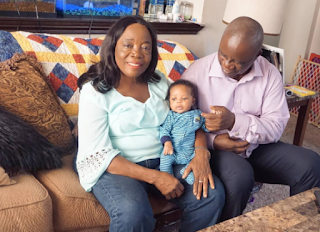 Laura Ikeji shares adorable photos of her son and his Grandparents