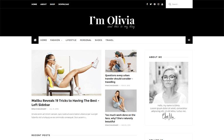 Olivia Free Blogger Template
