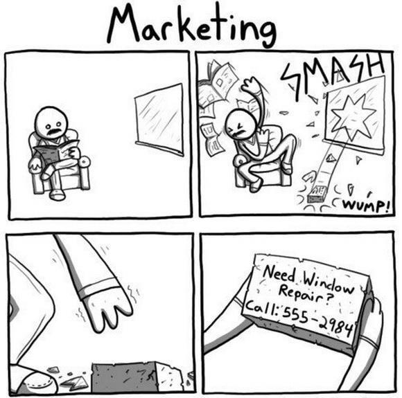 Funny Marketing Cartoon Joke Image