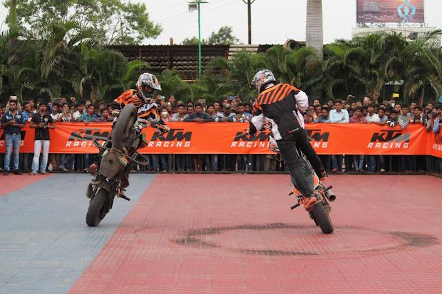 KTM organises a spectacular Stunt show in Warangal