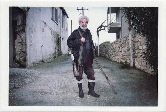 dirty photos - time - cretan landscape photo of cretan old man gith gun