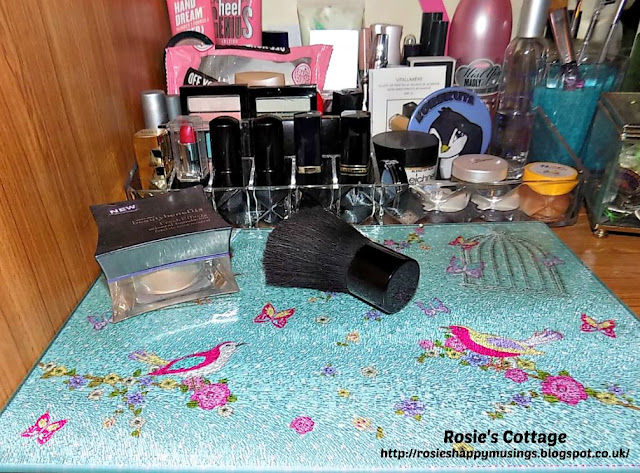Worktop saver on Rosies dressing table