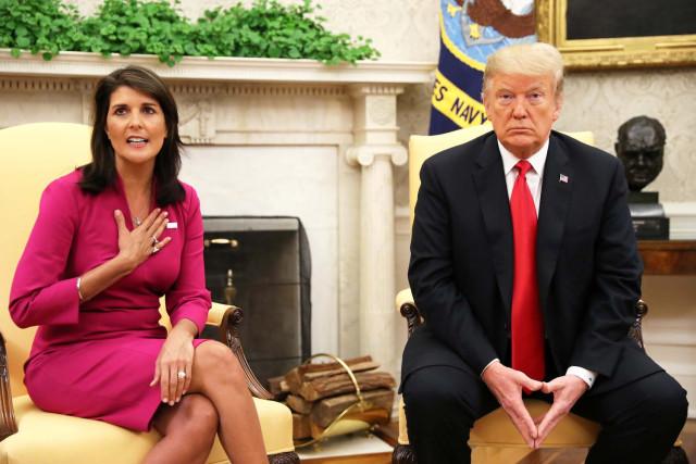 Trump aceptó la renuncia de Nikki Haley como embajadora de EEUU ante Naciones Unidas