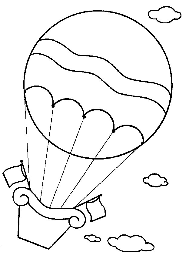 Hot Air Balloon Coloring Pages Coloring Pages Gallery