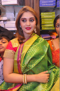 Surabhi looks stunning in Saree at Nakshatra Fashion Store Launch at Suchitra X Road 12.JPG