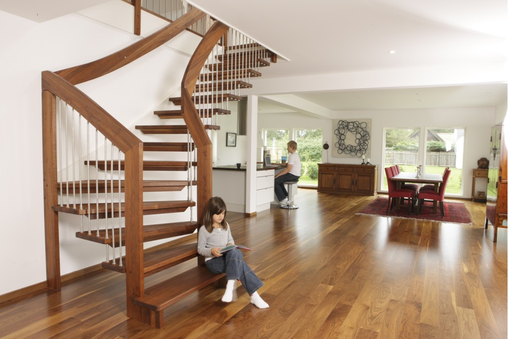 Choose Exterior Spiral You Can Build A Wooden Staircase Either From Kit Or Fully By Hand The Central Post And Bands Be Steel With
