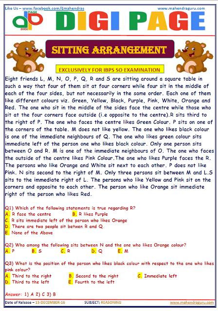 DP | SITTING ARRANGEMENT | 13 - DEC - 16