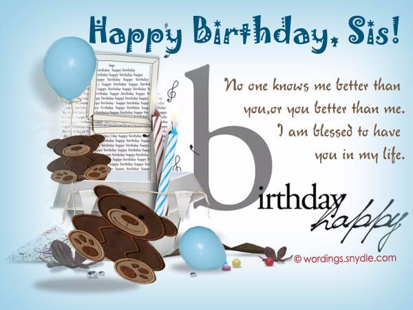 Bildergebnis für Birthday Wishes Sister Funny