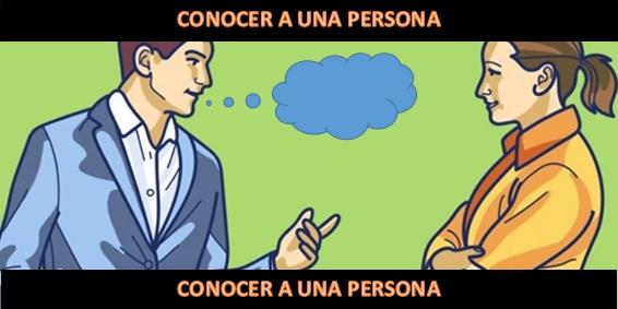 como conocer a una persona