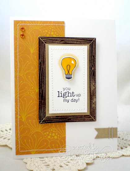 Lightbulb card by Tricia Traxler using Around the House stamp set |  Newton's Nook Designs