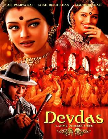 Poster Of Devdas 2002 Hindi 550MB DVDRip 720p ESubs HEVC Watch Online Free Download Worldfree4u