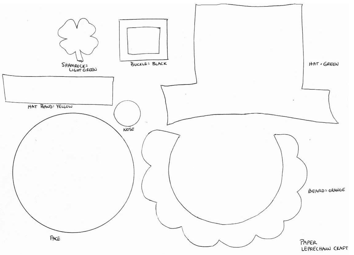 leprechaun hat template printable - mishmash st patrick 39 s day 17 de marzo