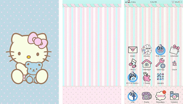 Hello Kitty Blue Theme for Vivo Android Smartphones