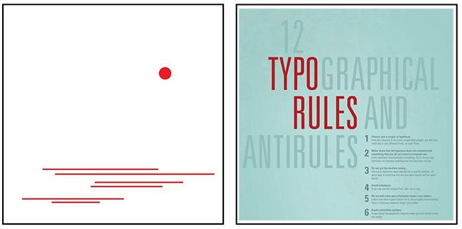 katmanlı tipografik sistem örneği