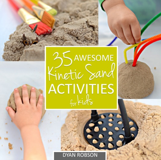 35 Awesome Kinetic Sand Activities for Kids by Dyan Robson {available now!} from And Next Comes L
