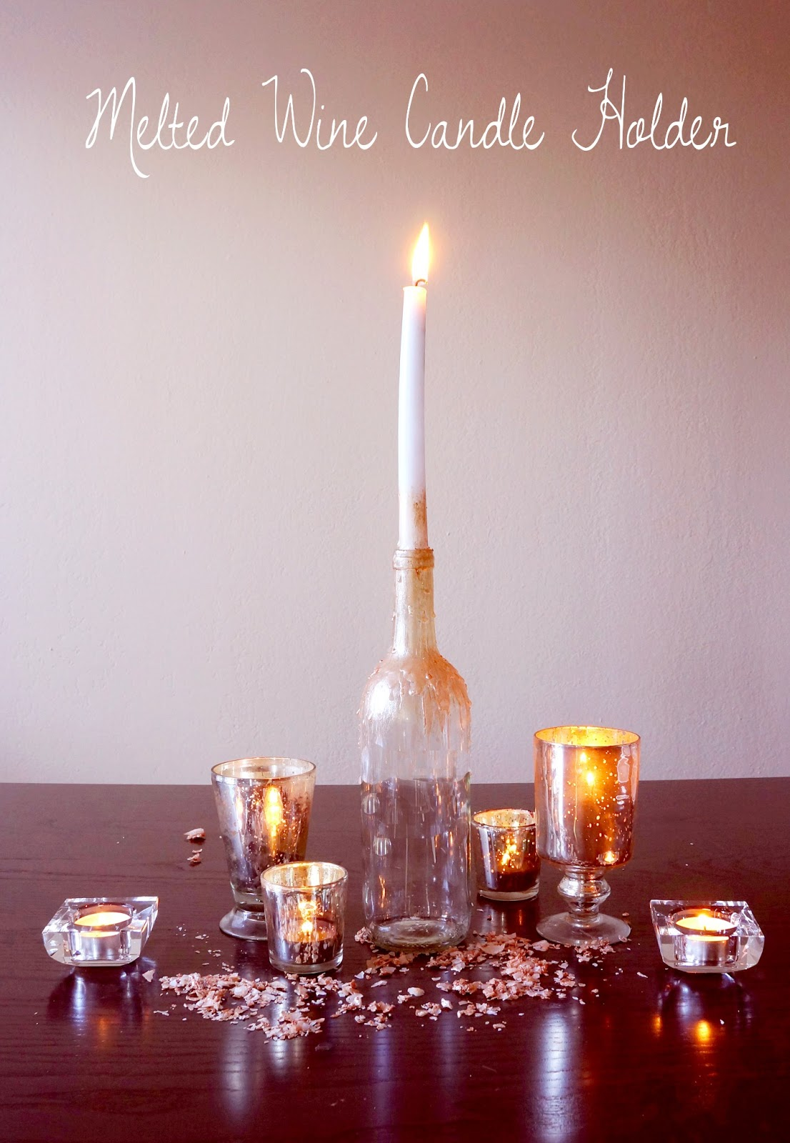 DIY: Wine Bottle Candle Holder / HARVESTING LOVE EVENTS