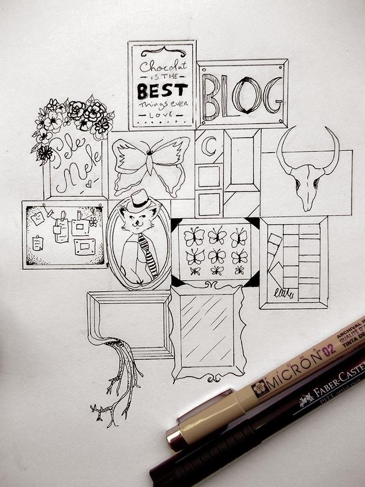 blog, blogueuse, dessin, dot, draw, draw on monday, pele mele, pêle-mêle, framework, fame, tumblr, micron, faber castel, pell mell, higgledy-piggledy,
