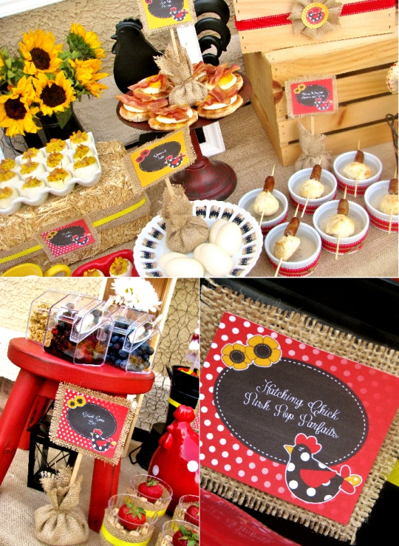 Mother's Day | Mother Hen Brunch Party Ideas - via BirdsParty.com