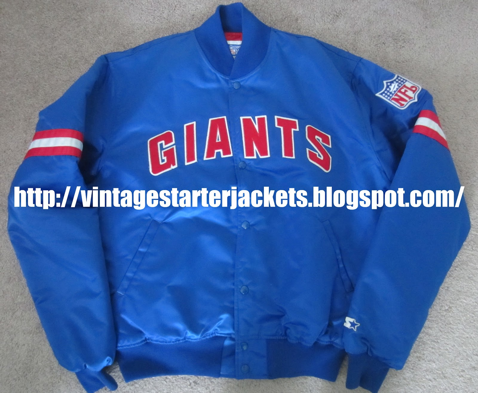 2a3da3c7b Vintage New York Giants Satin Starter Jacket Size XL - SOLD OUT ...