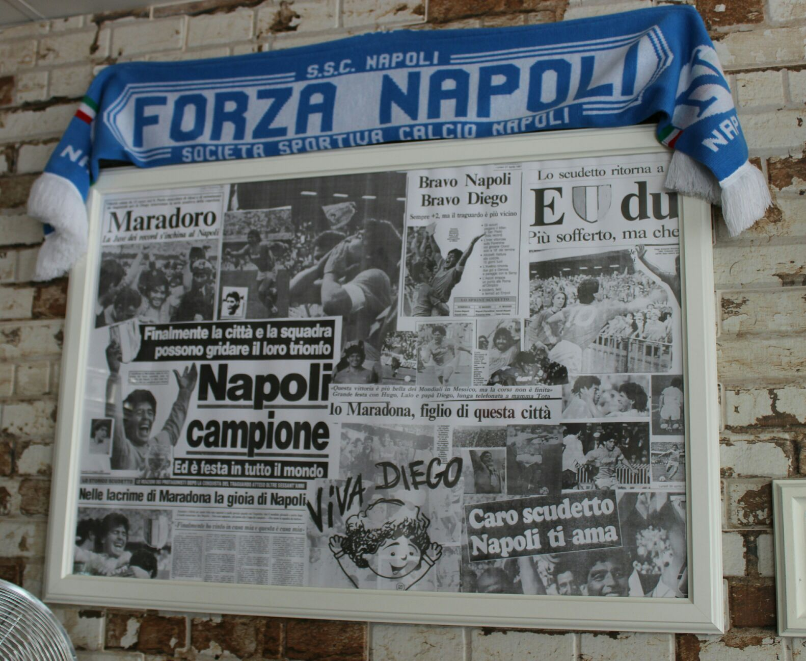 Shrine to Napoli and Maradona