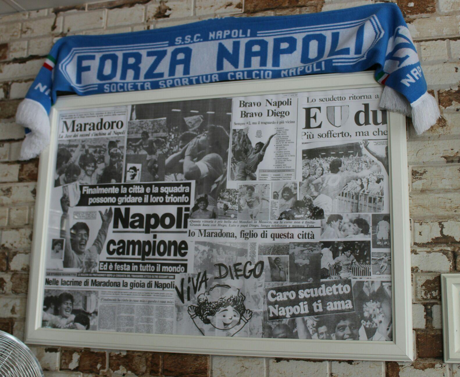 Shrine to Napoli and Maradona
