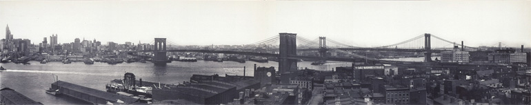 Photographie panoramique de New York et des ponts sur l'East River en 1909 d'Irving Underhill