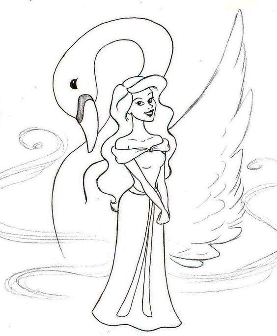 Tranh tô màu công chúa thiên nga 6