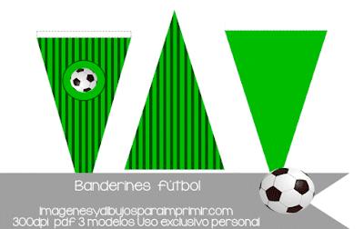 Banderines de fútbol para imprimir