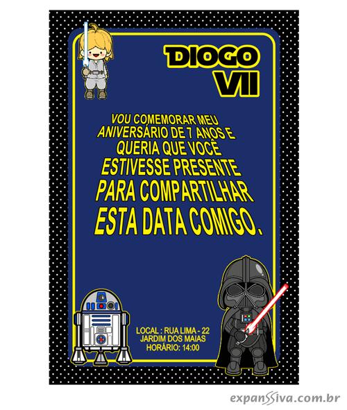 convites de aniversario nfantil star wars05 - Convites de Aniversário do Star Wars