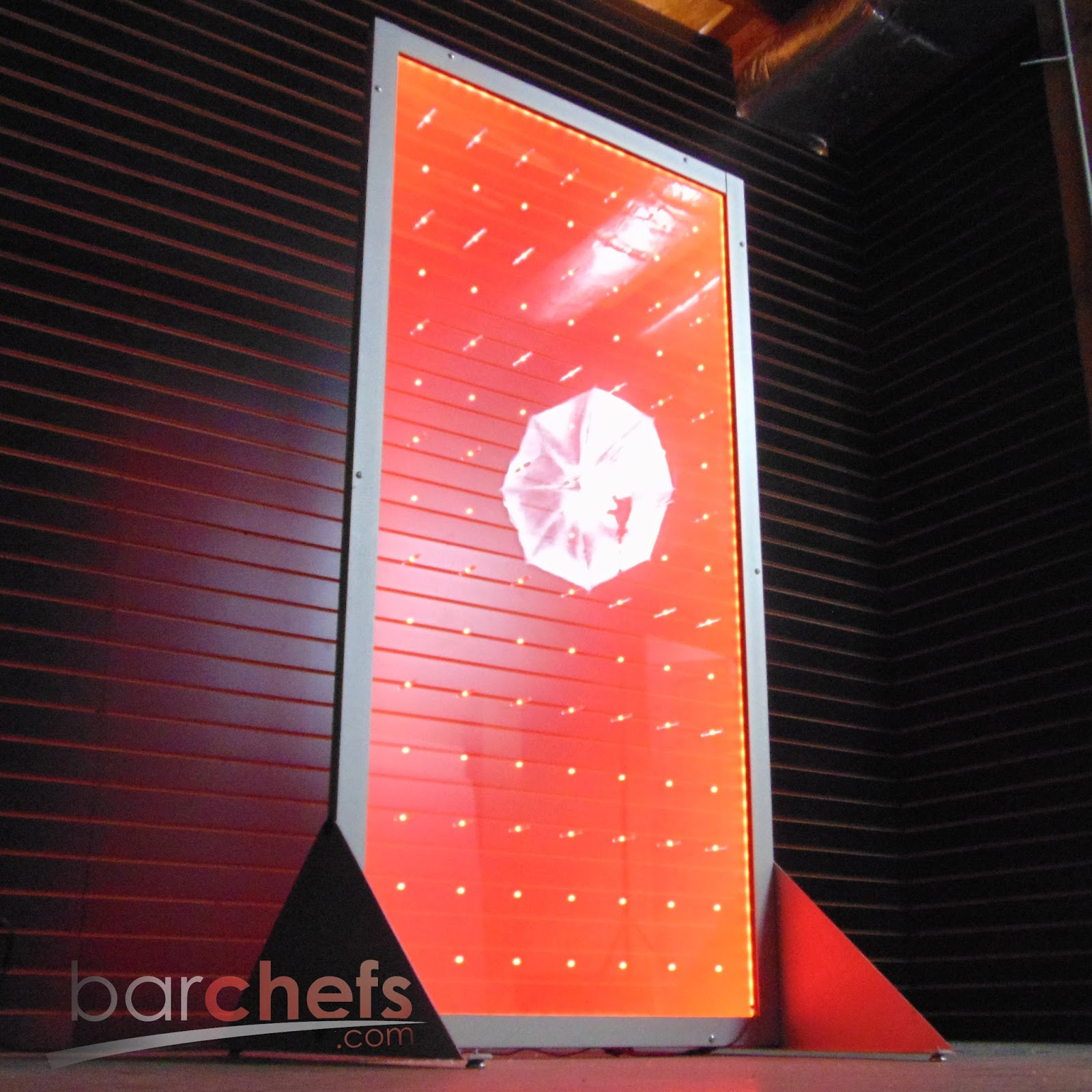 The Portable Peg Board Display Wall That Lights Up