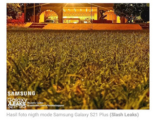 Hasil foto kamera Samsung Galaxy S21 plus mode malam