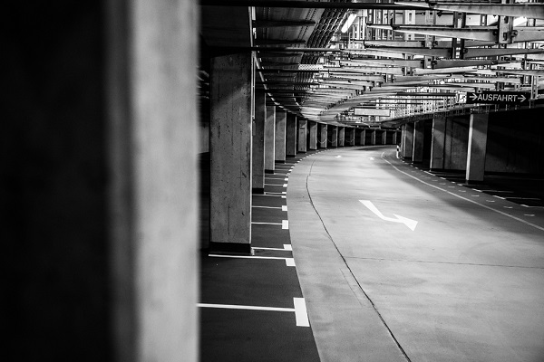 Pasillos vacios  del Commerzbank Arena
