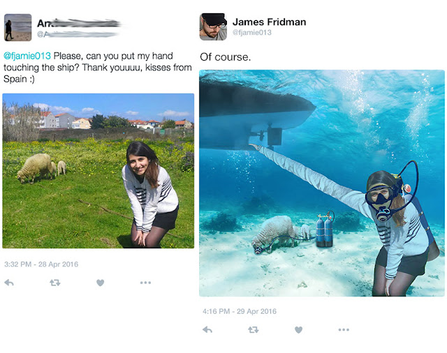 James Fridman : The master of photo manipulation go wrong