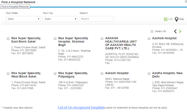 Max Bupa family health insurance hospital coverage