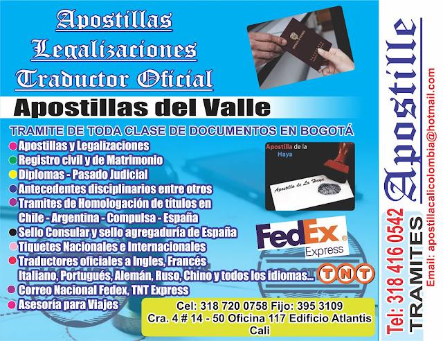 APOSTILLA CENTRO DILIGENCIA URGENTE *3103851682* Asesorate GRATIS ...
