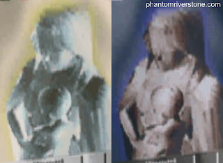 Left: the poster image as seen in the game; right: after applying a color inversion.