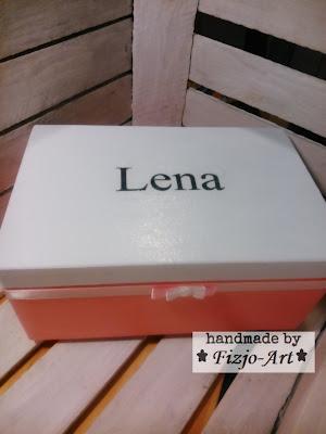 Pudełko drewniane dla Leny