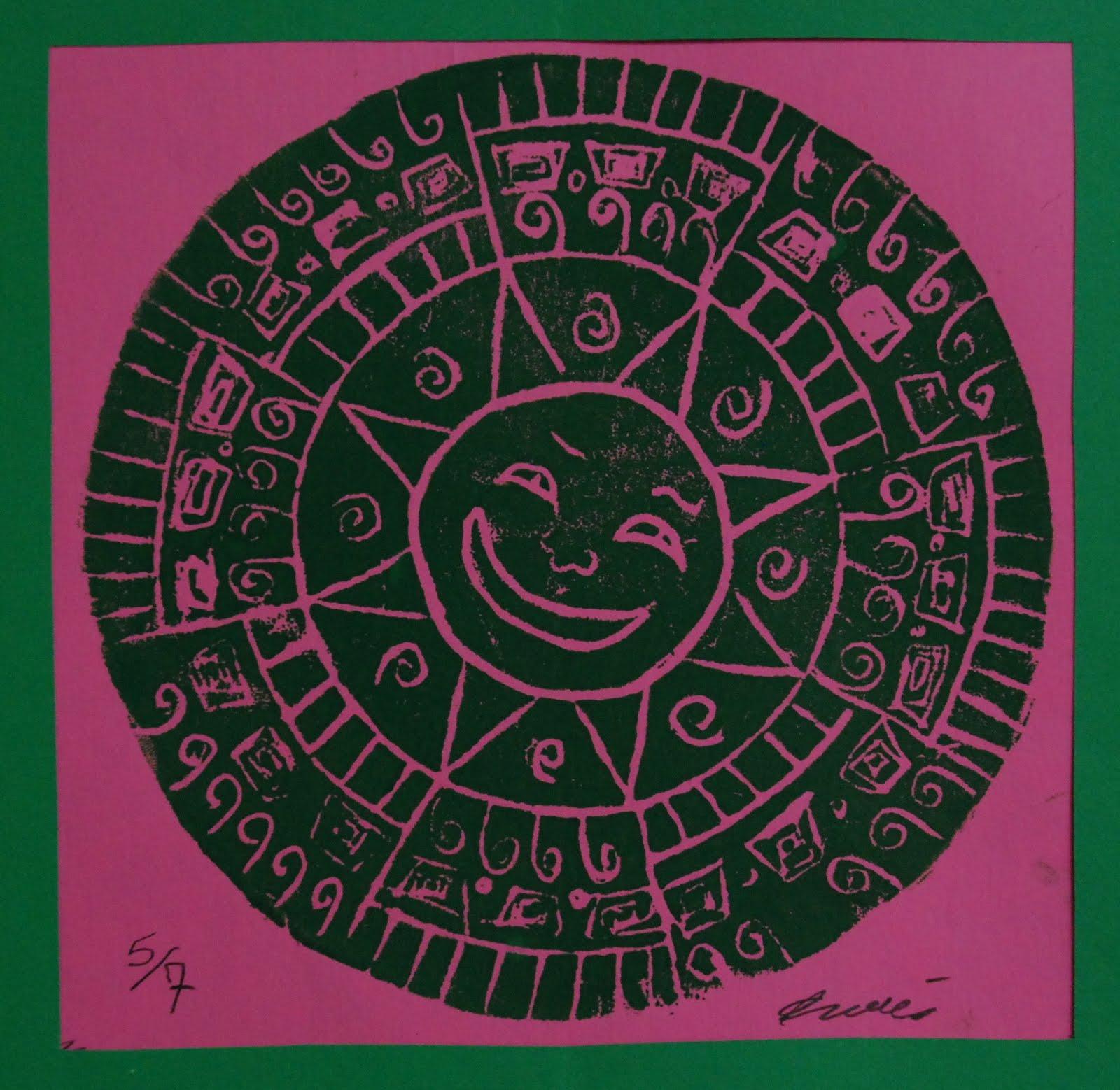 Seoul Mates: Aztec Sun Stone Prints