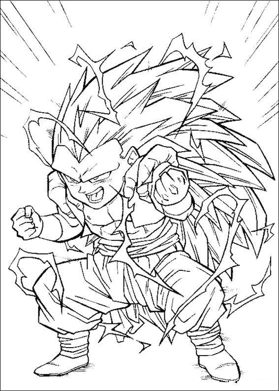 Dibujos animados para colorear dragon ball z colorear for Dbz coloring page