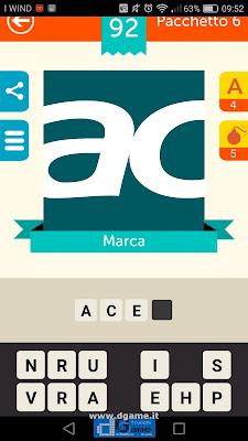 Iconica Italia Pop Logo Quiz soluzione pacchetto 6 livelli 92-100