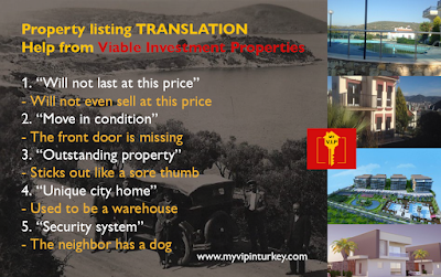 Real estate property listings translated